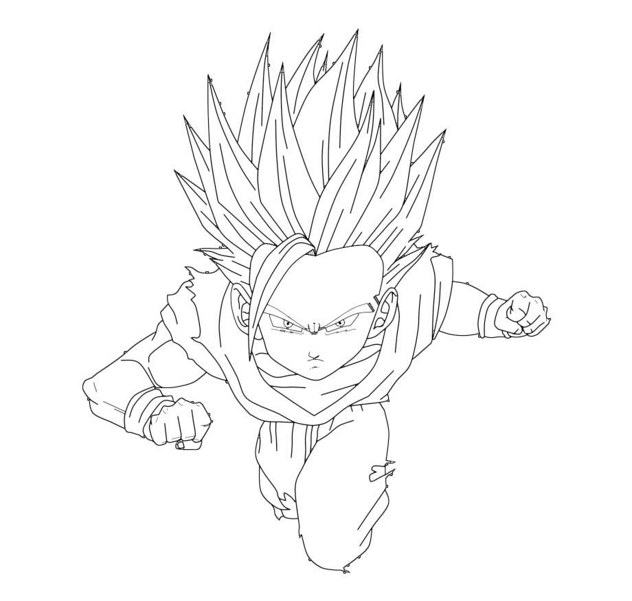 Desenhos Para Colorir Do Dragon Ball Z Gt Af Teen Gohan Coloring