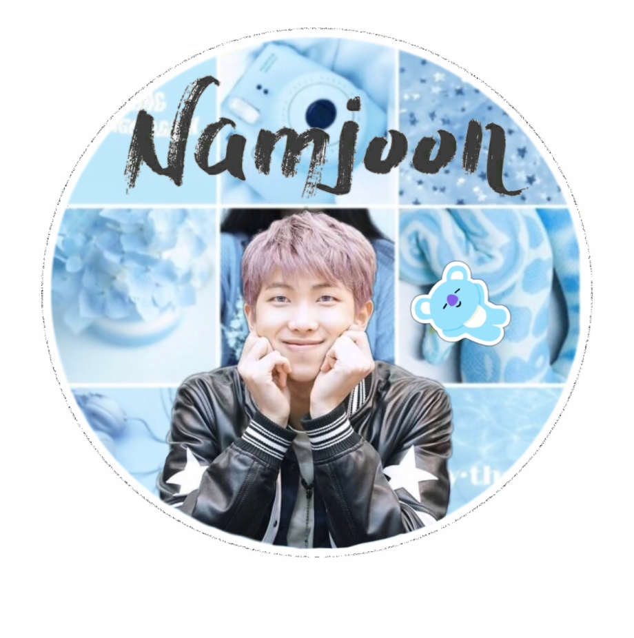 403 4036914 rm namjoon bts blue collage tumblr edit wall