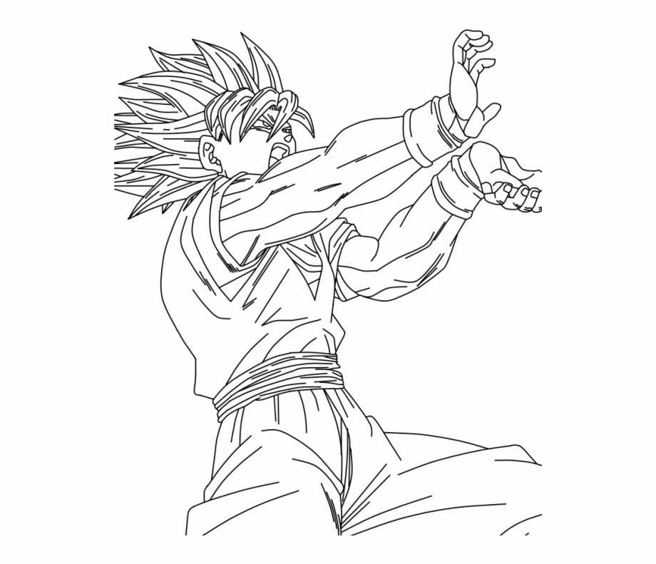 Posicion De Goku Goku Dibujos Para Colorear Transparent Png