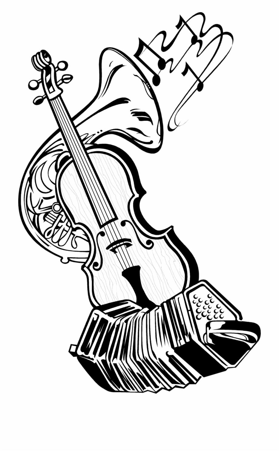 Musical Instruments At Getdrawings Com Free For - Sketch ...
