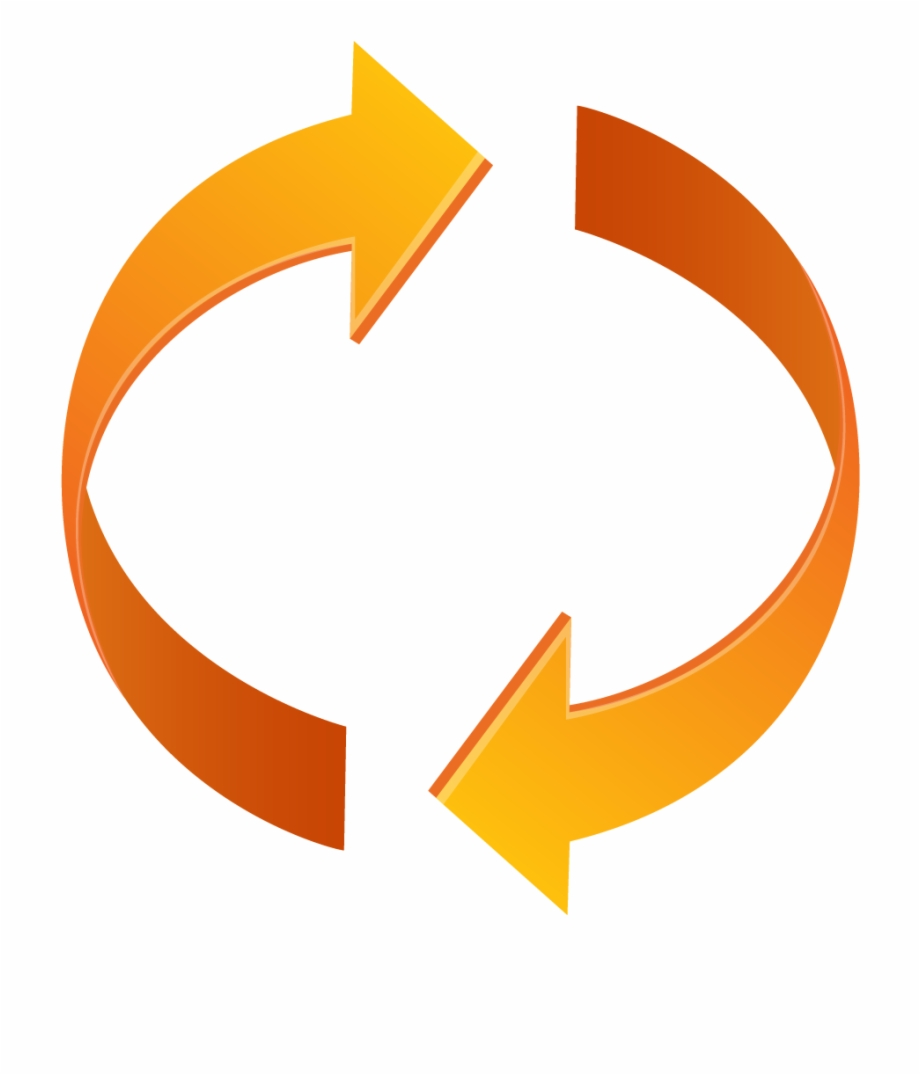 Orange Arrow Icon Png Loop Two Blue Circle Arrows Png 4093401 Vippng