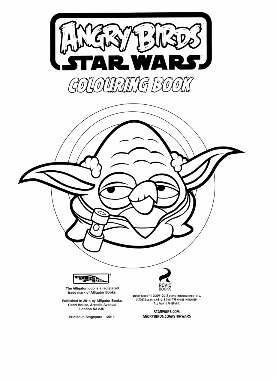 Angry Birds Star Wars Colouring Book Png Scans Angry Birds Star Wars Coloring Pages Yoda Transparent Png Download 411320 Vippng
