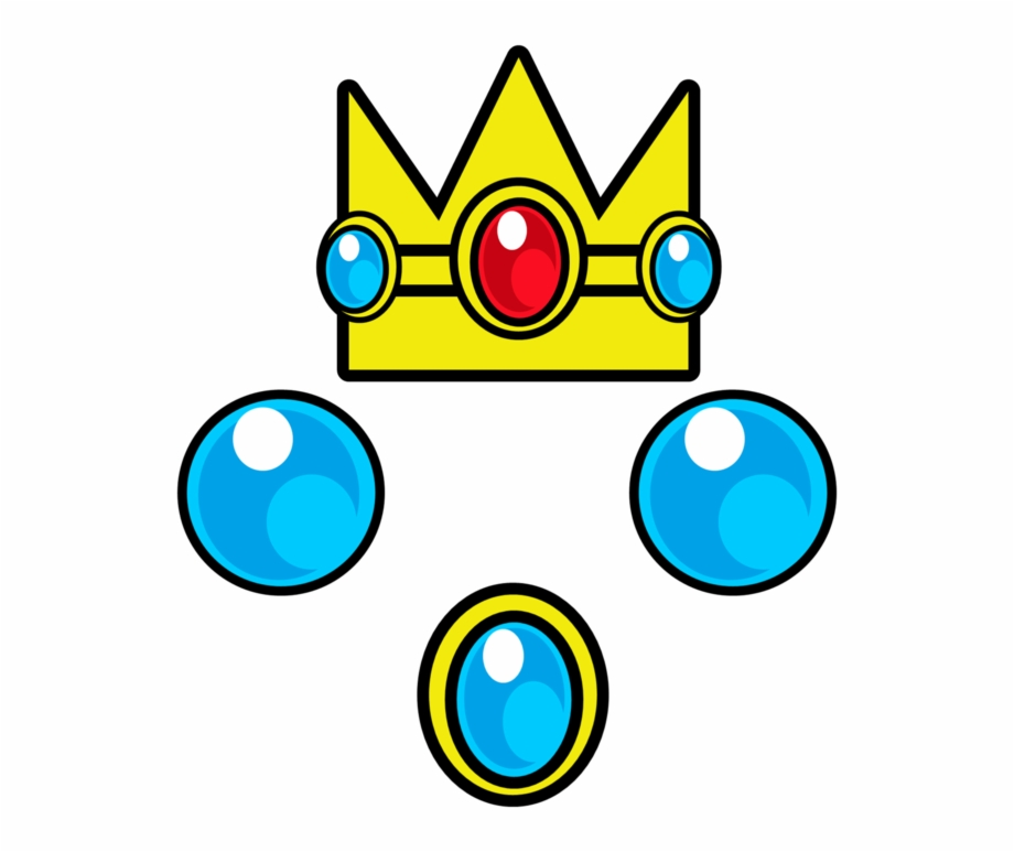 Princess Peach Clipart Crown Princess Peach Crown Drawing