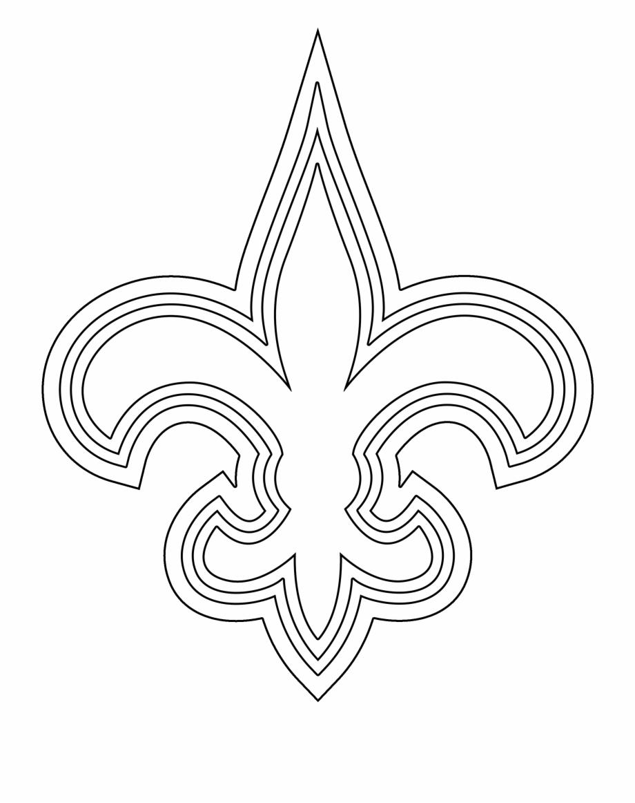 Saints Fleur De Lis Stencil New Orleans Saints Transparent Png Download 417035 Vippng