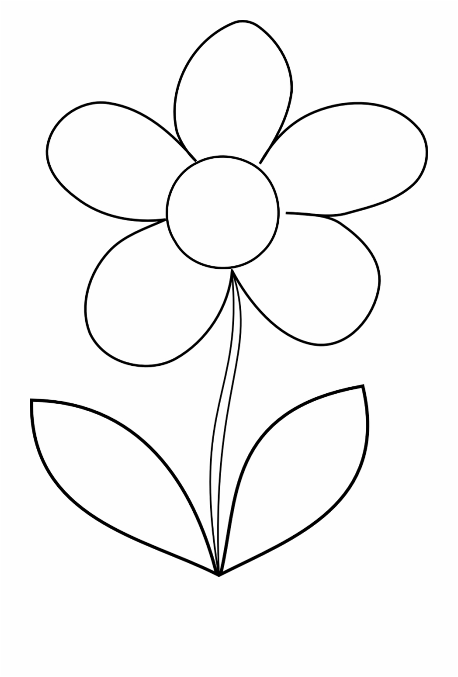 Flower Daisy Spring Outline Png Image - Easy Printable ...