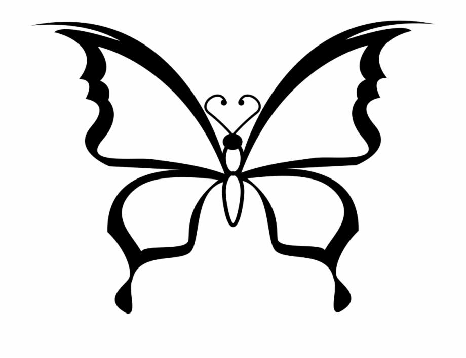 Butterfly Svg State Illinois Kupu Kupu Hitam Putih Transparent Png Download 4179463 Vippng