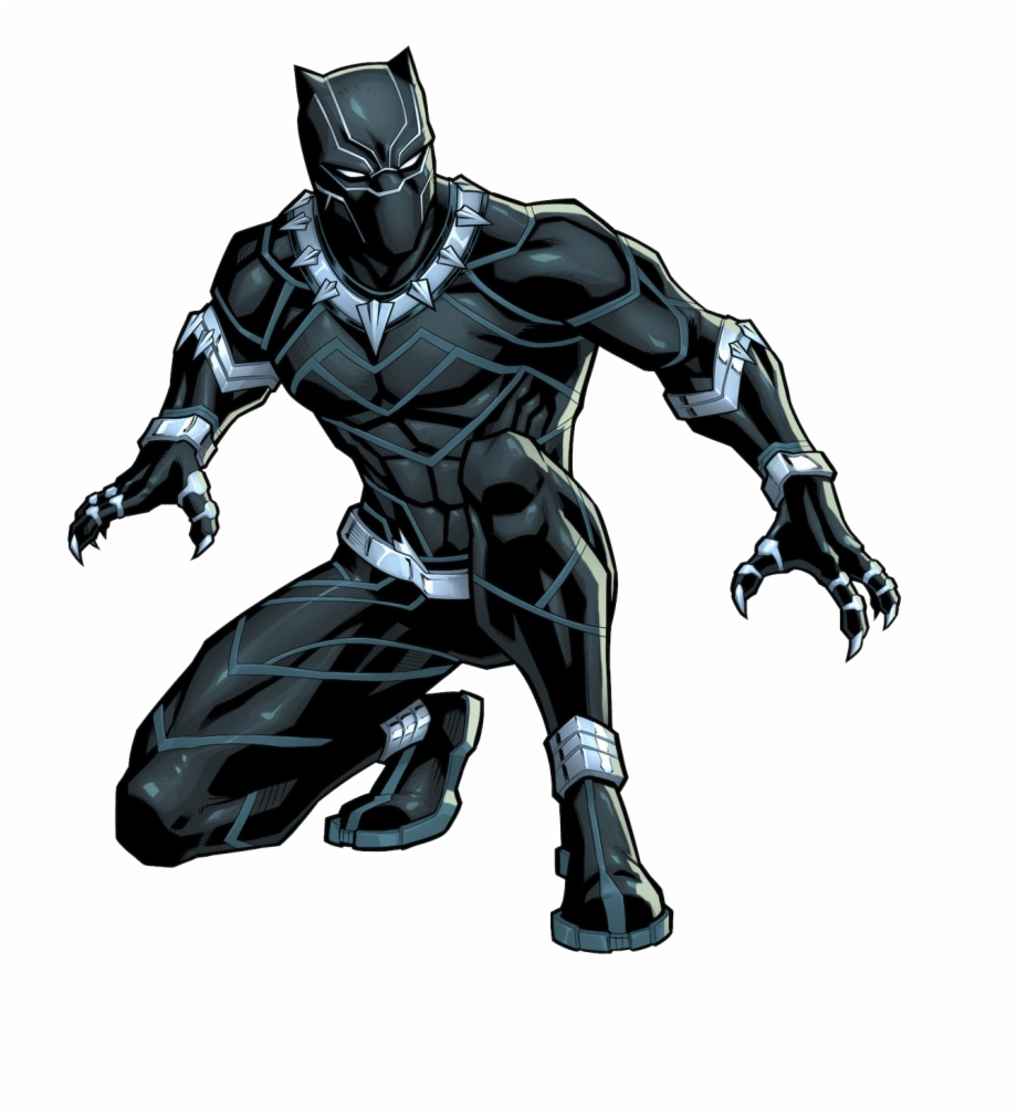 Full Body Black Panther Drawing Transparent Png Download 420007 Vippng
