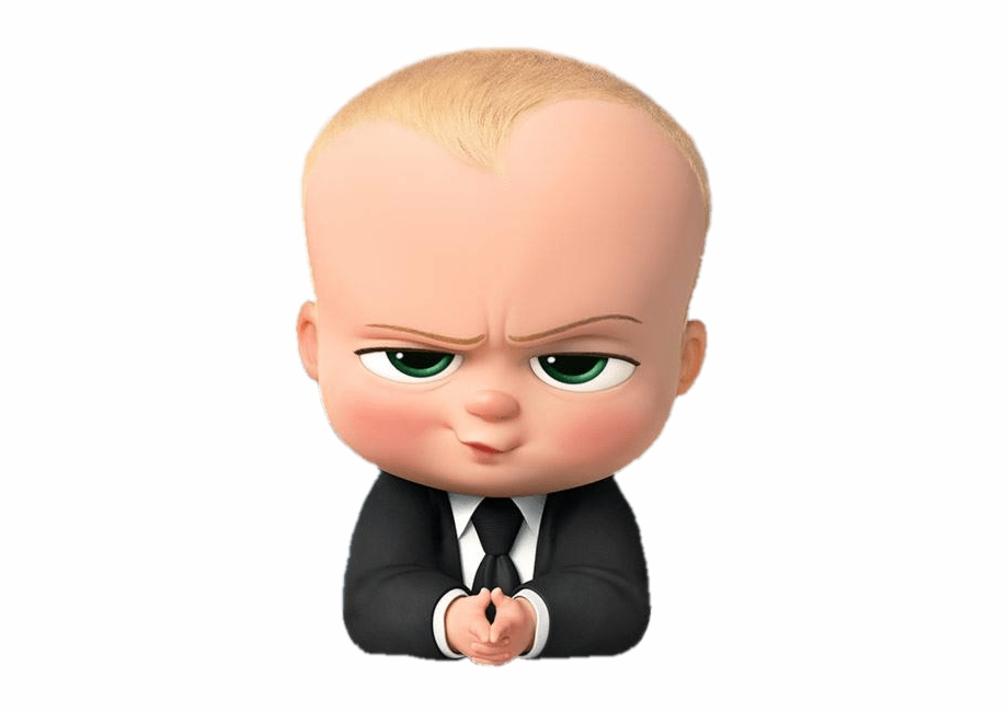 Boss Baby Angry Look Transparent Background Baby Boss Png