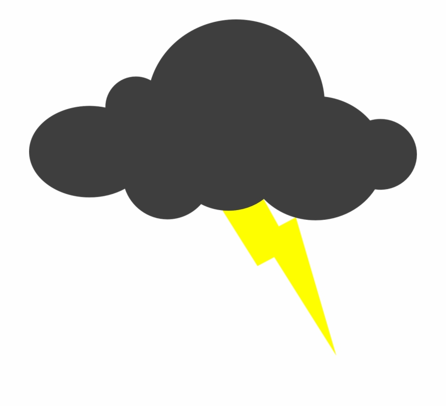 Lightning Clouds Png Image Picpng Cloud With Lightning Bolt Transparent Png Download 422525 Vippng
