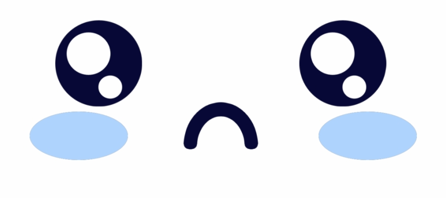 Kawaii Blue Sad Eyes Eye Blush Face Cute Sad Face Png