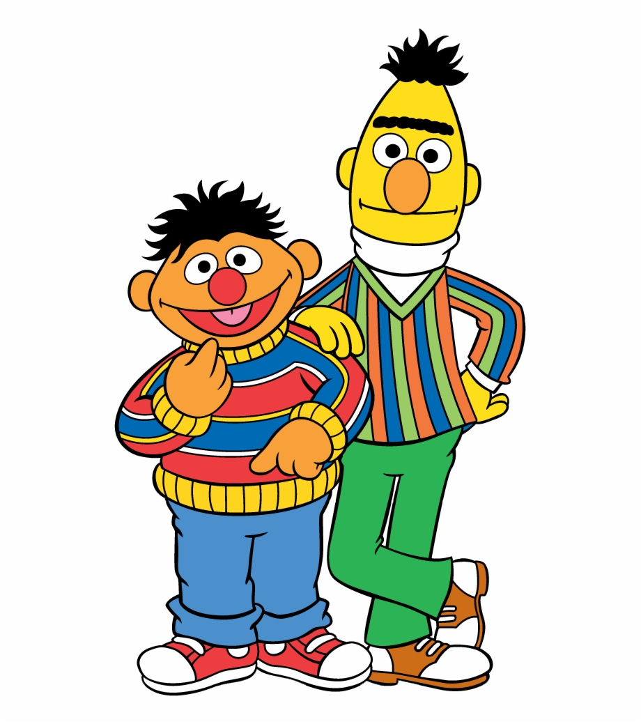 Sesame Street Bert And Ernie Cartoon Transparent Png
