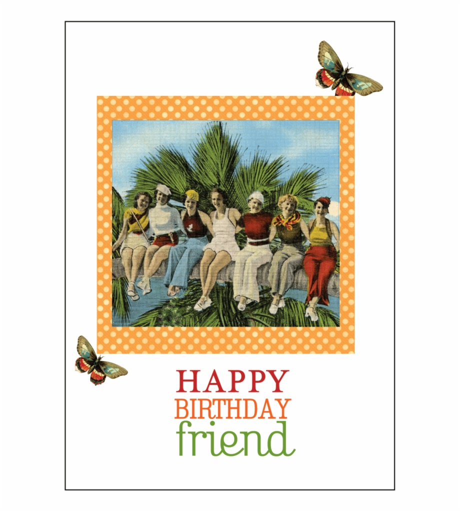 Wondrous Vintage Friends Birthday Card Set Transparent Png Download Funny Birthday Cards Online Inifodamsfinfo