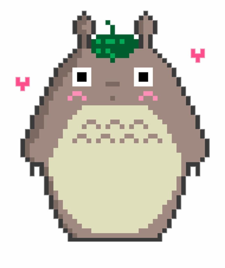 Totoro Pixel Girl Studioghibli Kawaii Kawai Tumblr Pink
