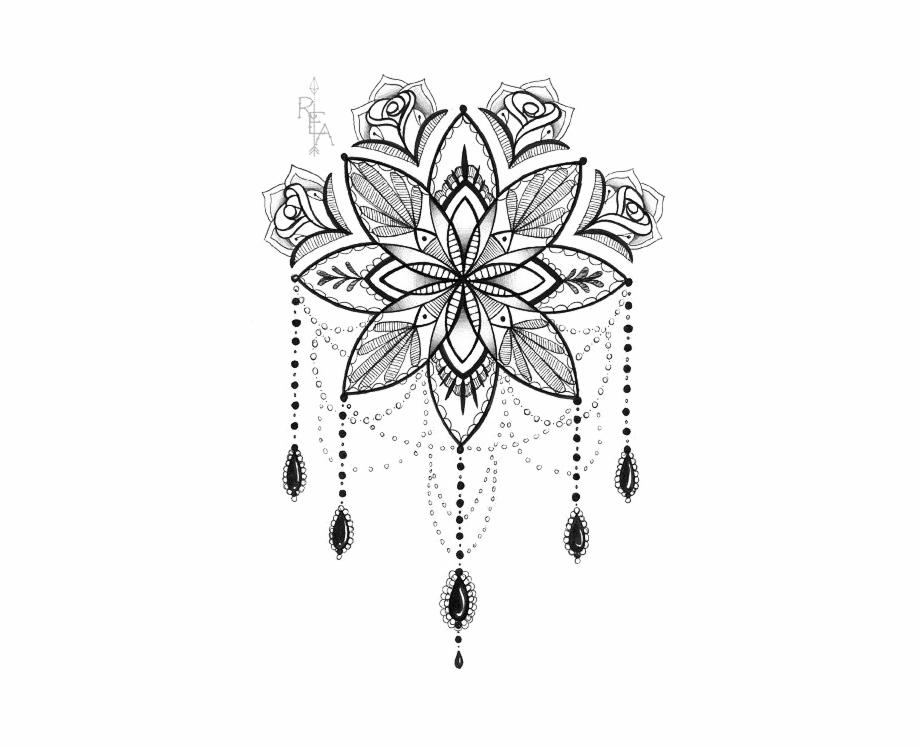 Lotus Flower Tattoo Drawing Tattoo Design Mandala Transparent Png Download 432075 Vippng