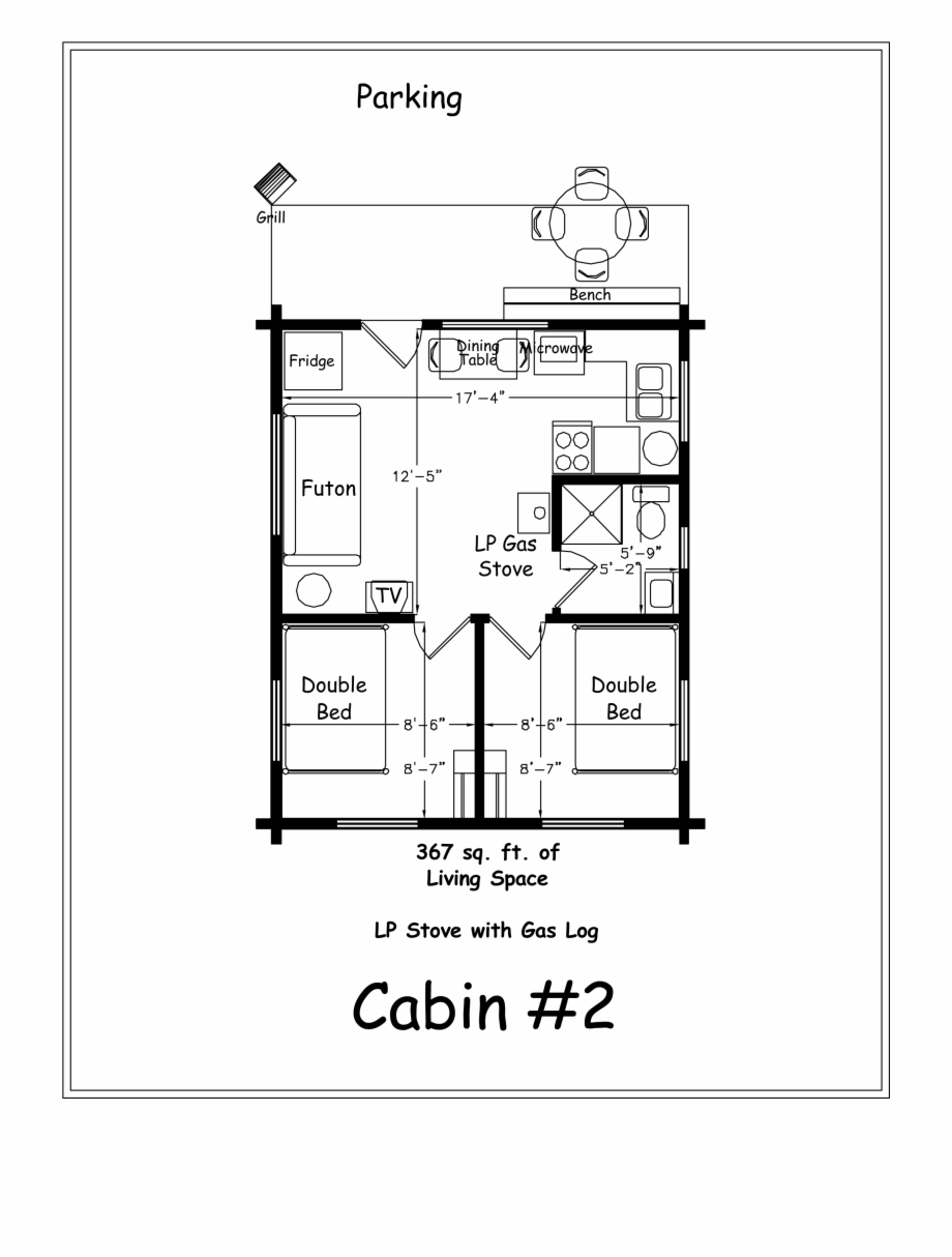 Creek Drawing Log Cabin Two Bedroom Cabin Plans Transparent Png Download 4318026 Vippng