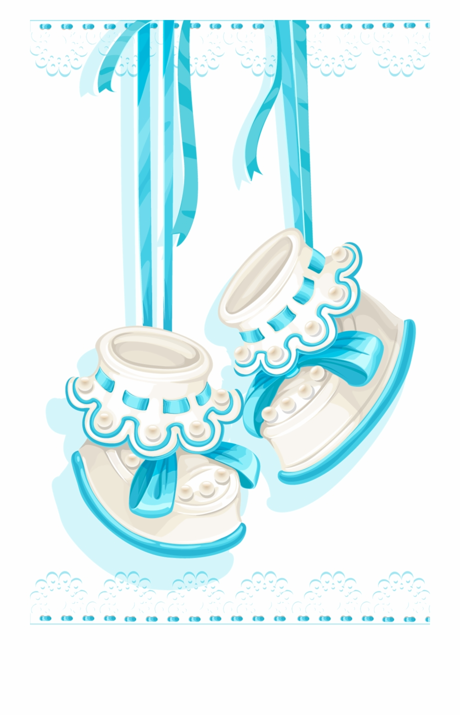 And Boy Infant Shoes Keepsake Memory Shower Clipart Baby Shower Background Girl Transparent Png Download 4369048 Vippng