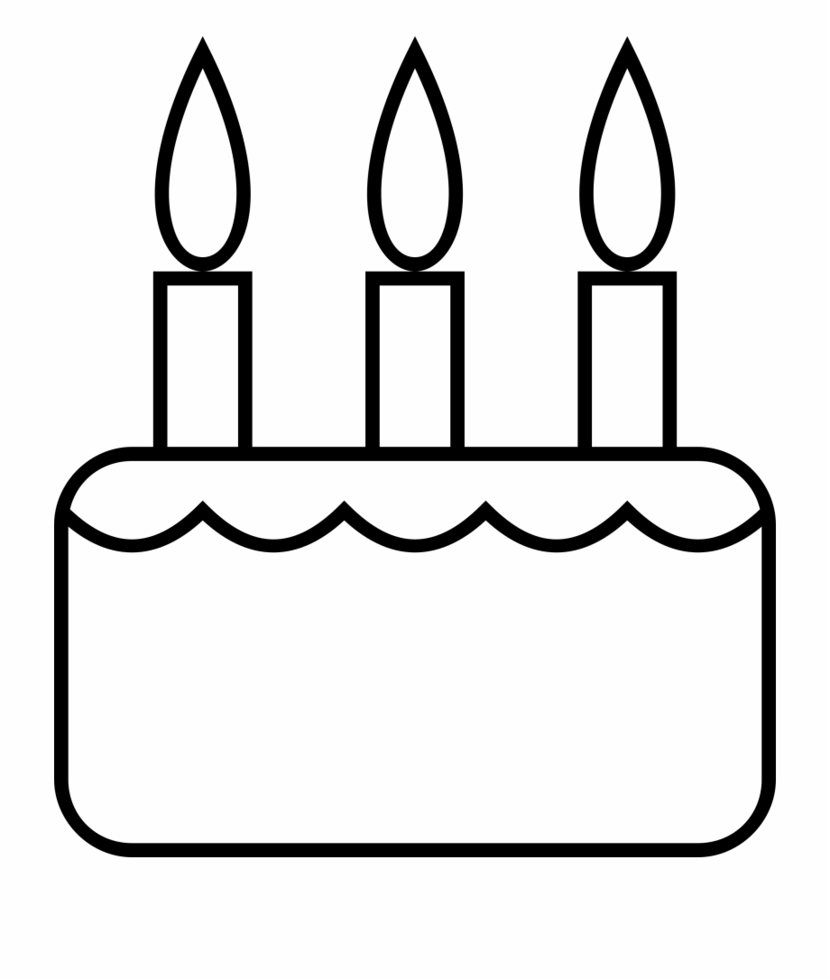 Clipart Cake Black And White
