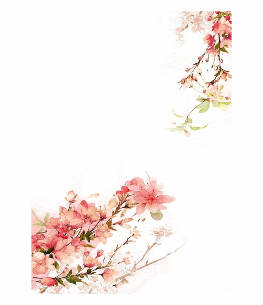 Tropical Floral Background Png Watercolor Flowers Background Png