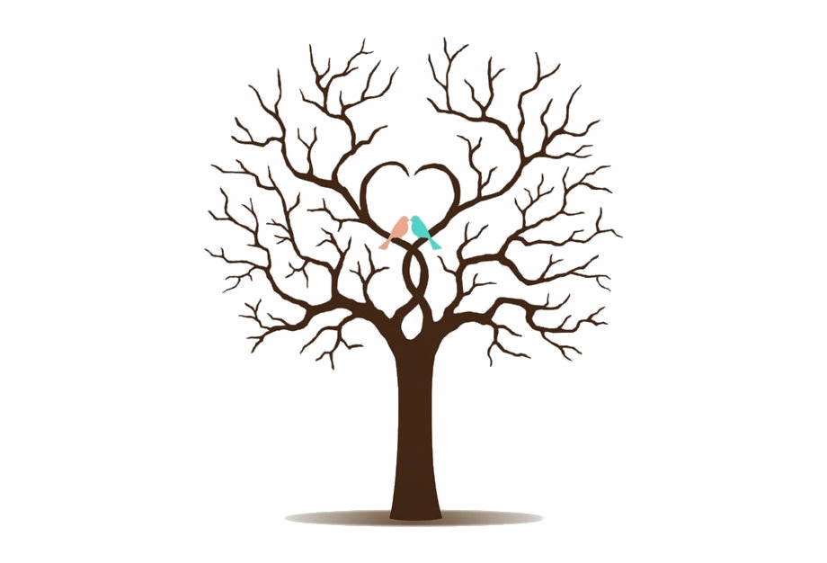 Tree Clipart Wedding Desenhos Para Convite De Casamento Vetor