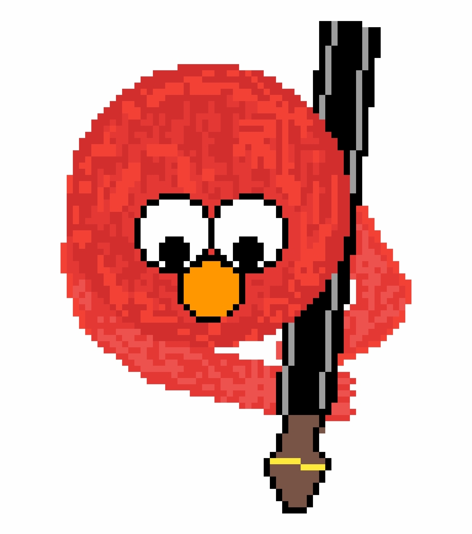 Elmo With A Rocket Launcher Cartoon Transparent Png Download 454841 Vippng