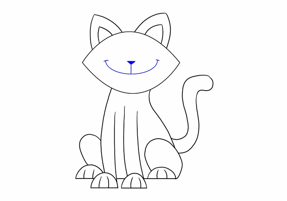 Image Result For Smiling Cat Face Drawing Draw A Simple Cat