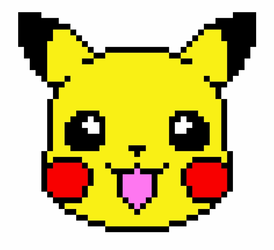 Pikachu Dibujos En Pixeles Faciles Transparent Png