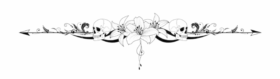 Divider - Lily Black And White | Transparent PNG Download #464102 - Vippng