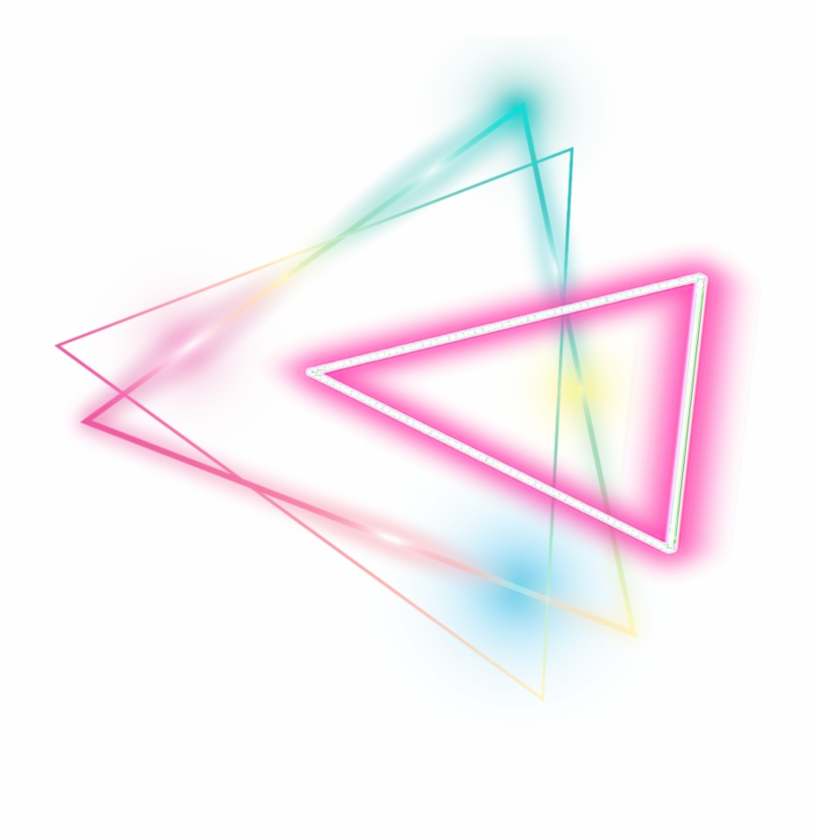 Neon Geomatric Colorful Sticker Transparent Background Glow Png