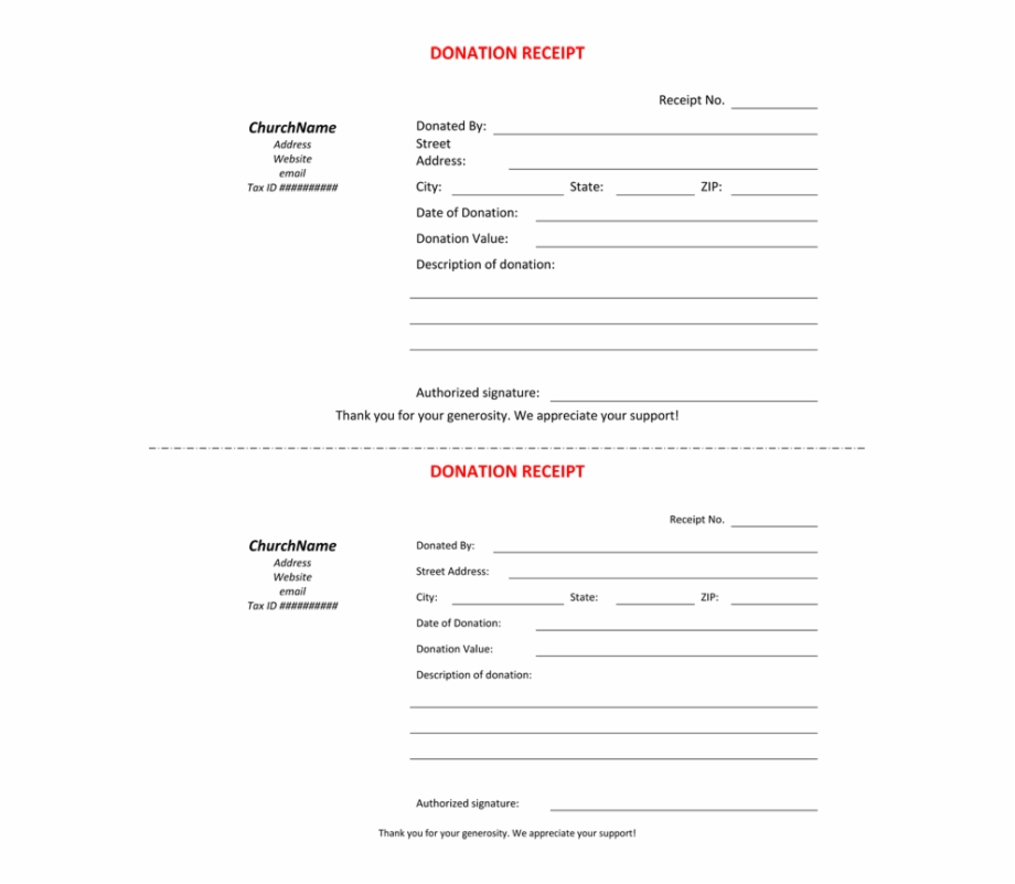 Church Donation Receipt Template 138144 Donation Receipt Template Uk Transparent Png Download 4657056 Vippng