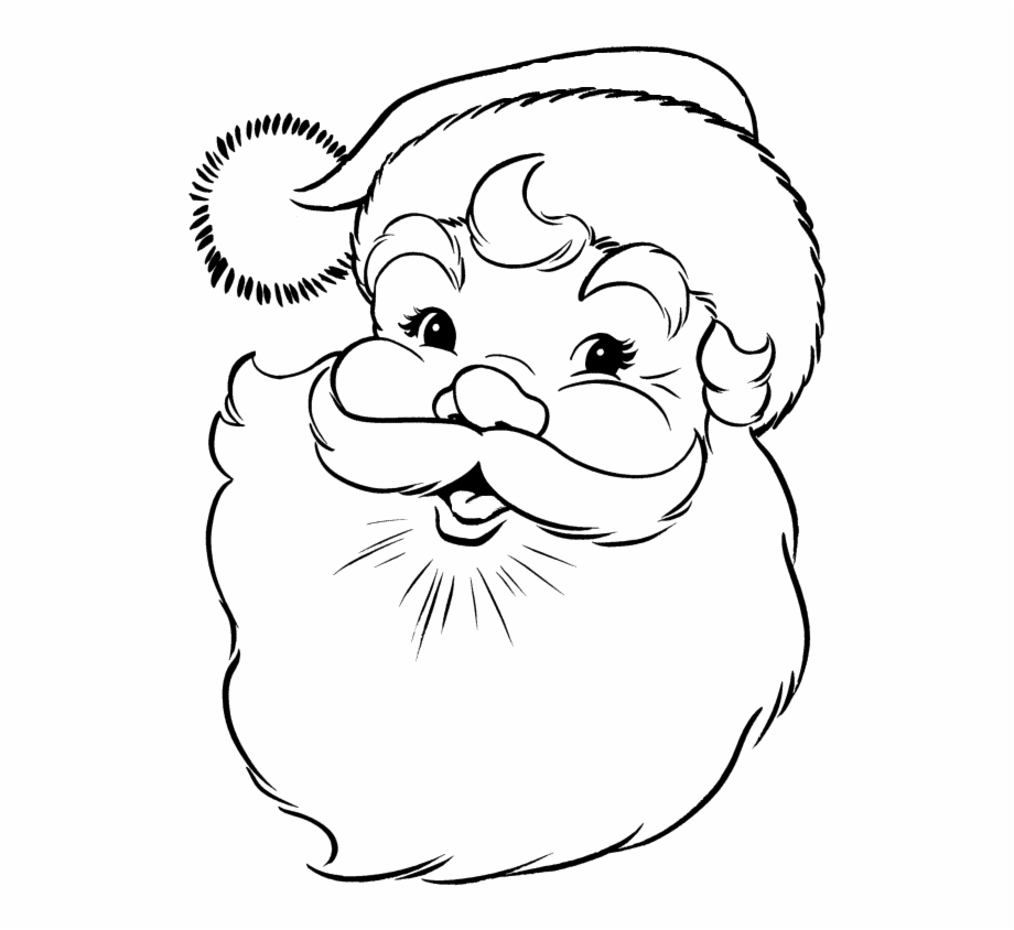 11++ Santa Claus Drawing Face