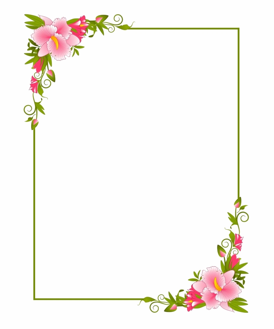 Page Borders Design Border Design Text Background Flower Page