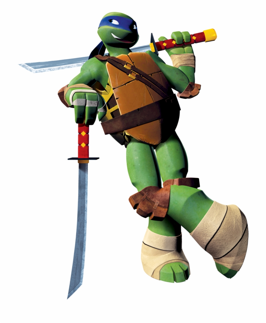 Leo Tmnt Png Leonardo Ninja Turtle 2012 Transparent Png