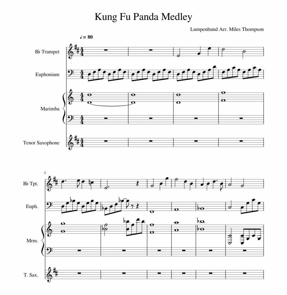 Kung Fu Panda Medley Sheet Music Composed By Lumpenhund