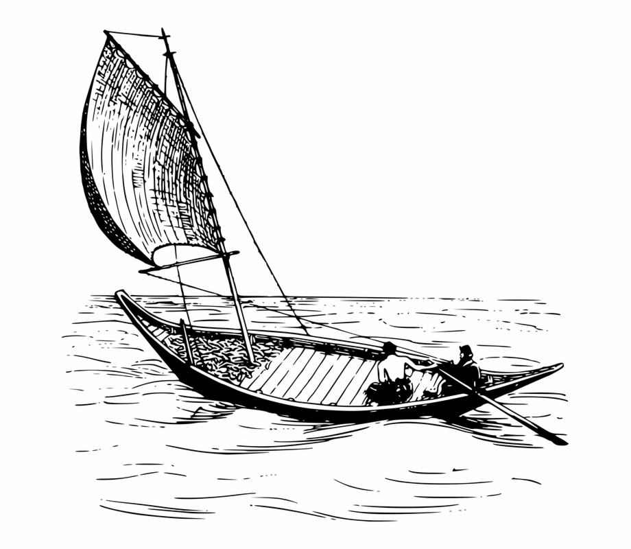 Sailboat Vector Wind Boat Boat And Fisherman Clipart Transparent Png Download 487573 Vippng