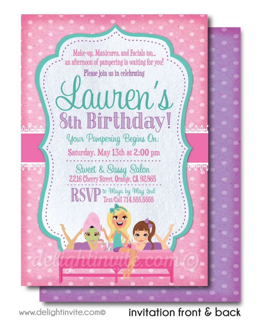 Diva Spa Party Birthday Invitations Greeting Card