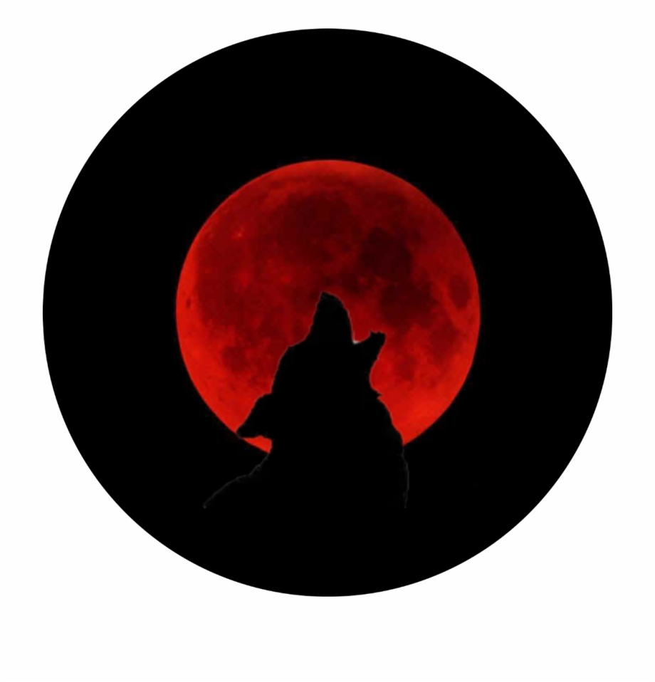Freetoedit Wolf Howl Bloodmoon Blood Moon Blood Red Moon Transparent Png Download 4838218 Vippng