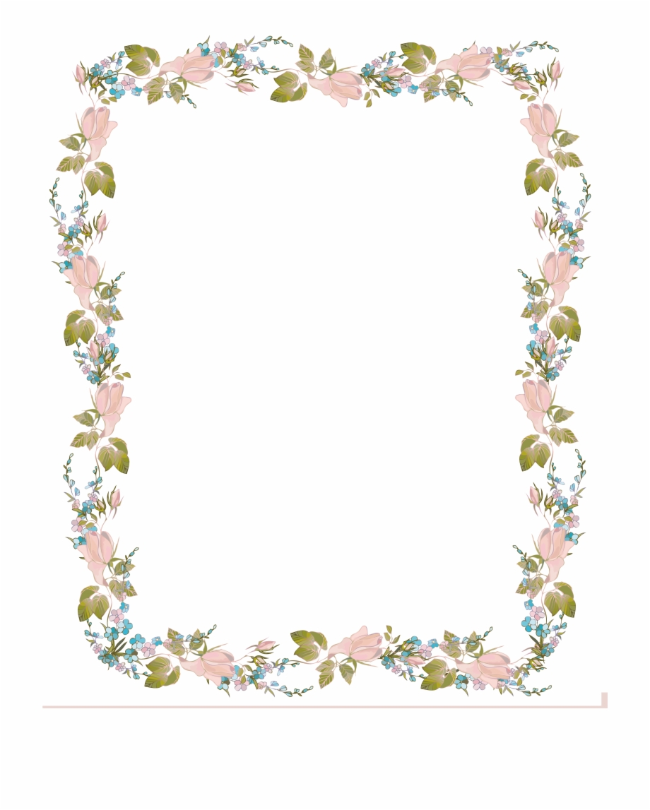 Invitation Clip Art Flowers Design Wedding Invitation Border