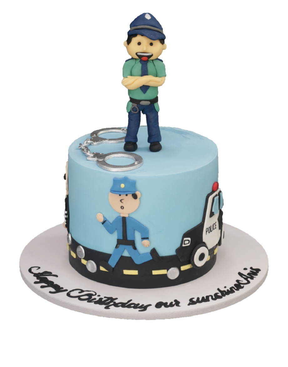 Awesome Police Cake Birthday Cake Transparent Png Download 4870142 Funny Birthday Cards Online Alyptdamsfinfo