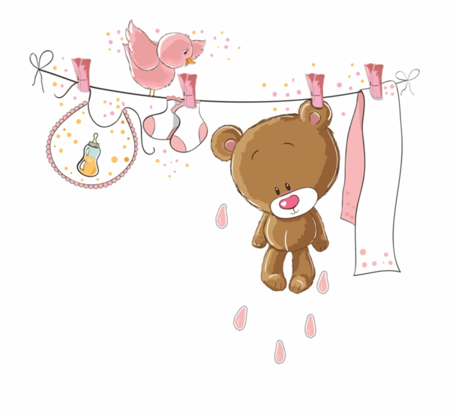 Ftestickers Clipart Cartoon Clothesline Baby Cute It S A Girl Template Transparent Png Download 4893093 Vippng