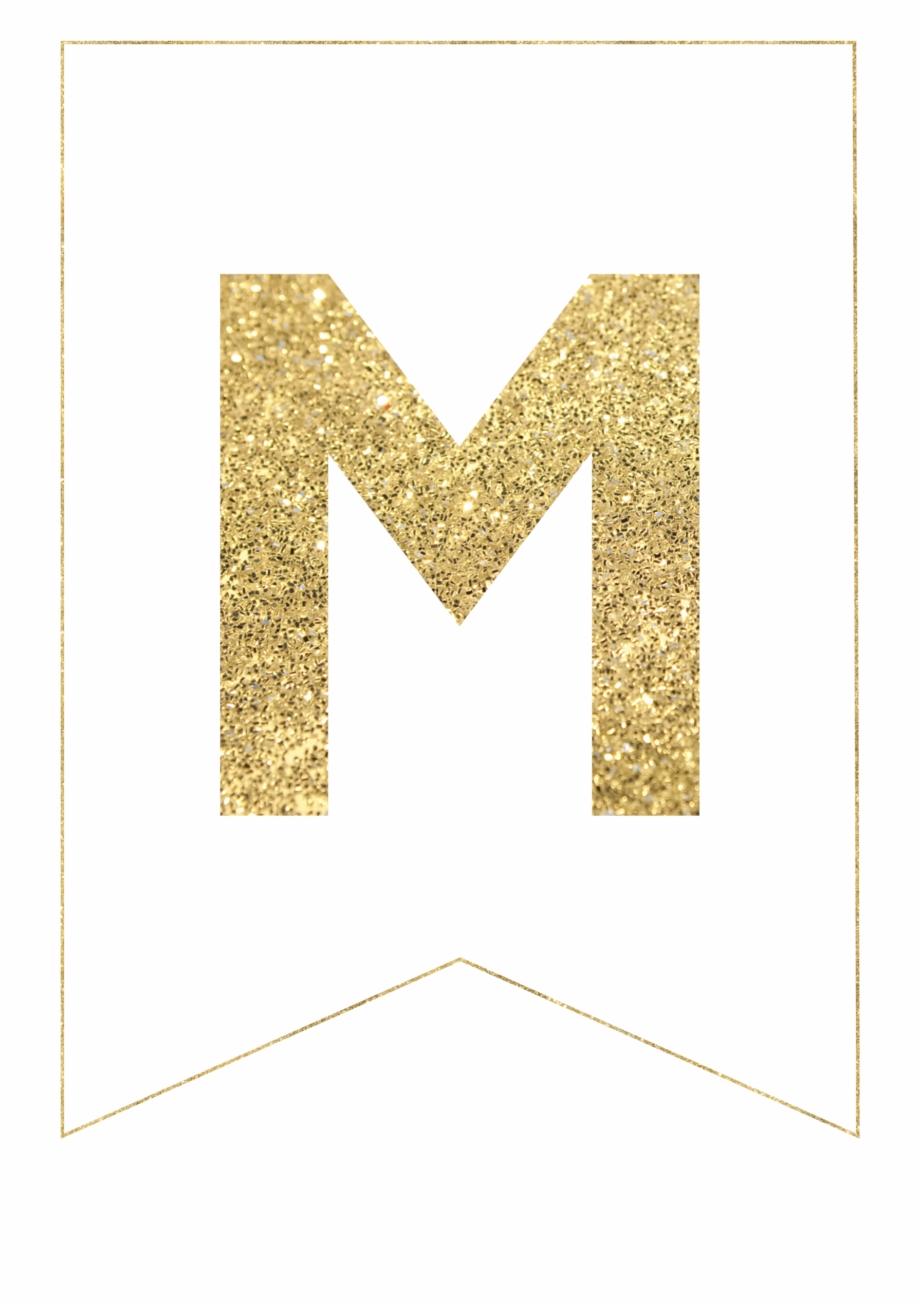 M Gold Alphabet Banner Letter - Free Printable Gold ...