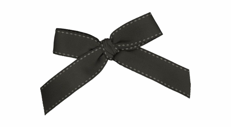 Black Bow Ribbon Png Pic Hair Tie Transparent Png Download