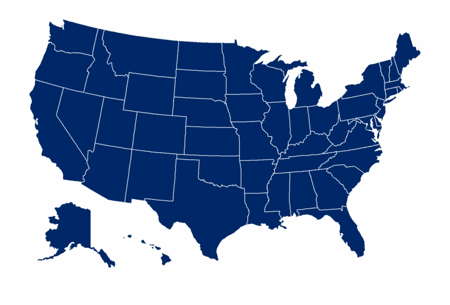 Usa Map Png - United States Blue Map | Transparent PNG ...