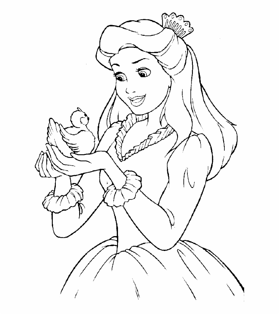 - And Simple Pages Online - Disney Princess Drawing Pages