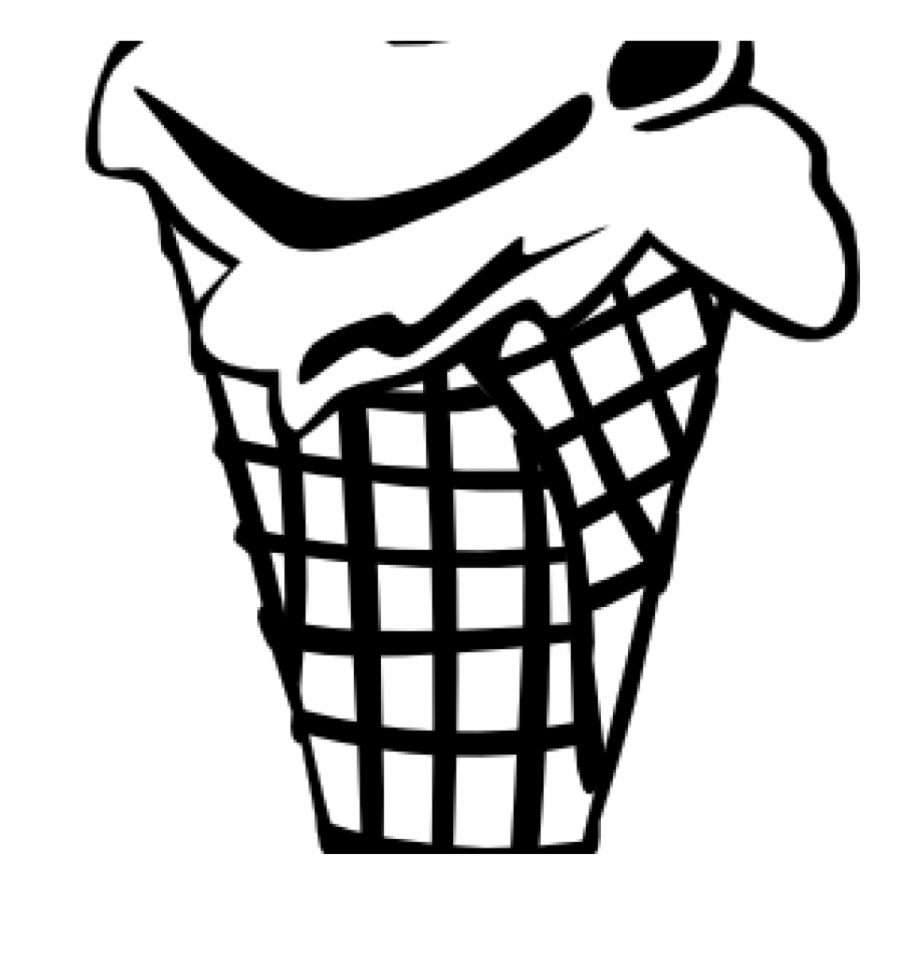 Ice Cream Cone Black And White Line Art Icon. Royalty Free Cliparts,  Vectors, And Stock Illustration. Image 96747590.