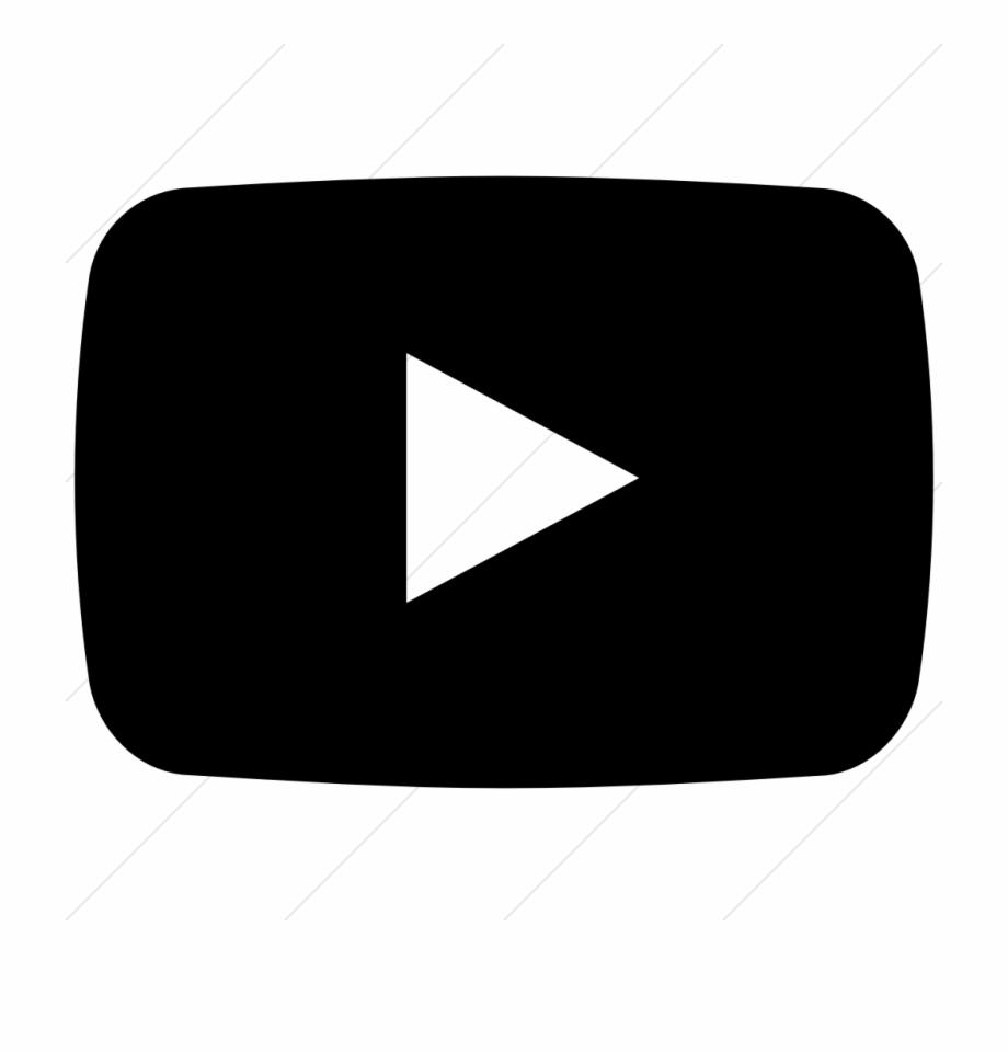 17 Black And White Youtube Icon Images Logo - Black ...