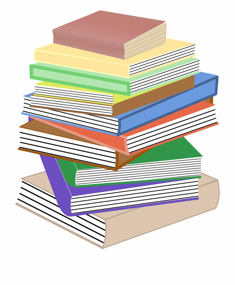 Books Stacked Pile Stacks Png Image Cartoon Books And Paper Transparent Png Download 59510 Vippng