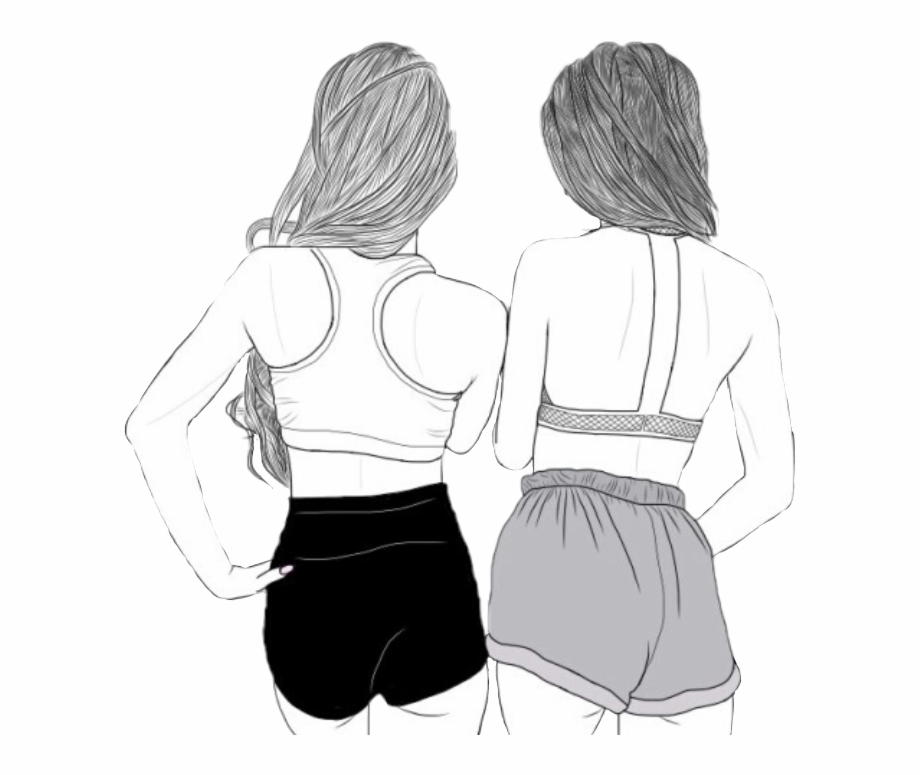 chicas Tumblr - Drawings Of Girls Best Friend | Transparent PNG ...
