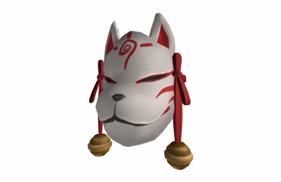 Kitsune Mask 3d Kitsune Mask Roblox Transparent Png Download