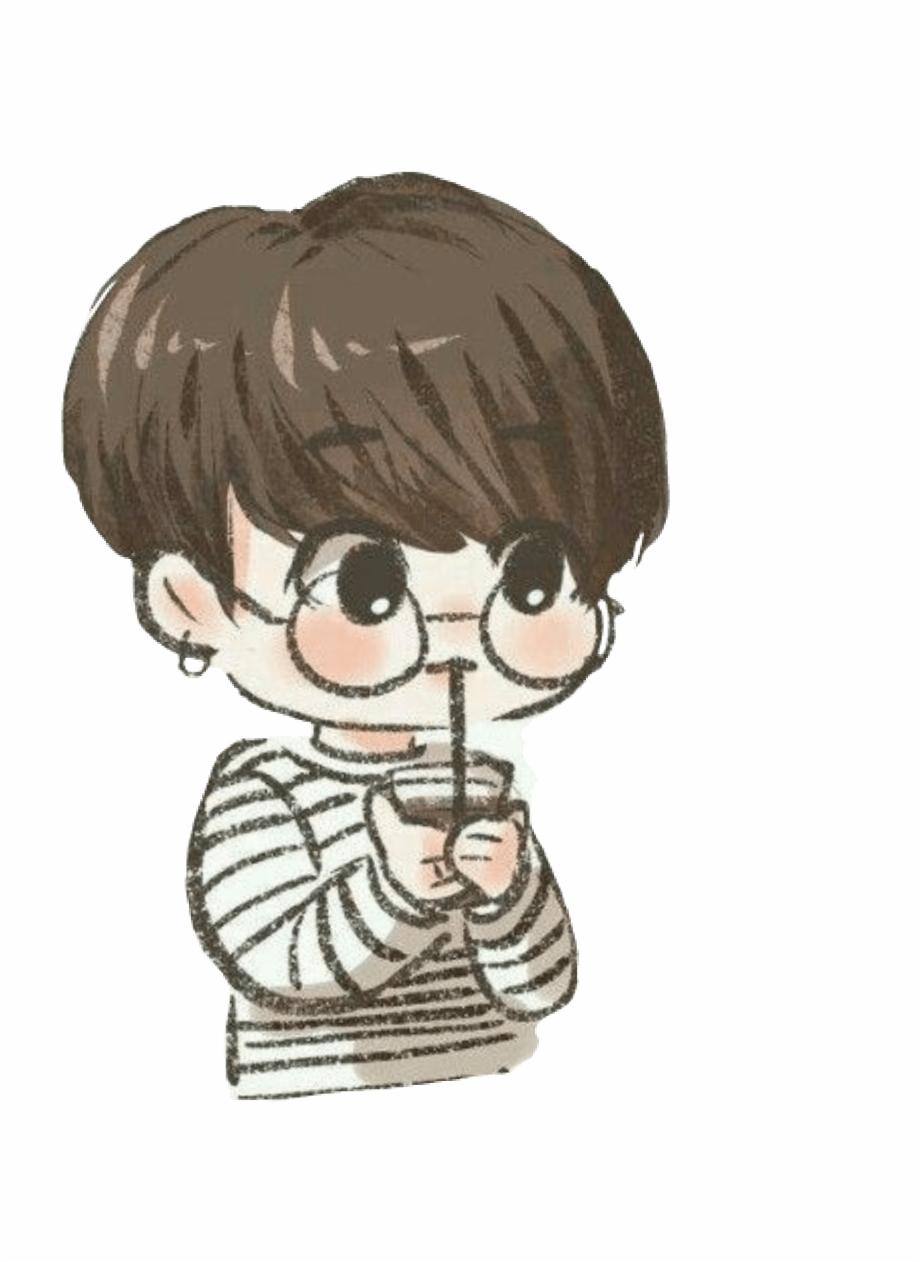 508 5087165 jungkook bts cute chibi bts chibi drawing easy