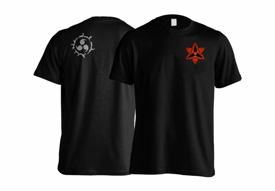 Kaos Uchiha Sasuke Mangekyou Sharingan Curse Active Shirt Transparent Png Download 5093551 Vippng